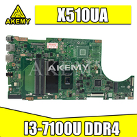 Akemy X510UA For Asus X510U X510UN X510UR X510URR X510UQ Laotop 메인 X510UA 마더 보드 I3-7100U CPU DDR4
