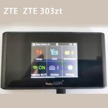 Usado desbloqueado bolso wifi zte 303zt sem fio 4g modem 165mbps lte categoria 4 bolso roteador wi-fi