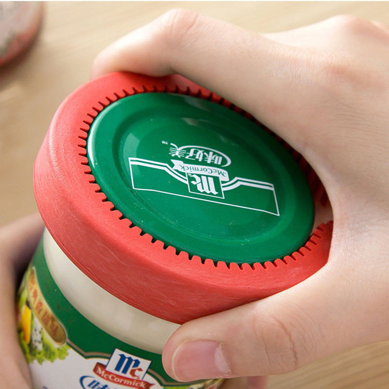 1Pcs 4in1 Can Opener Manual Rubber Non-slip Twist Cap Bottle Launcher Beer Opener Lid Screw Jam Bottle Opener Kitchen Gadget 2