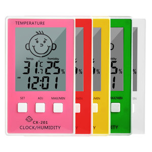 3 in 1 Digital Thermometre Hygrometer Temperature Logger Meter Thermometre Higrometre Indoor Thermometer for Baby Room/ Bathroom