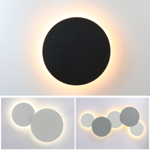 Image 1 - Modern Creative Eclipse LED Ceiling Lamp Stairs Aisle Corridor Background Bedroom Bedside Round Ceiling Light For Livingroom