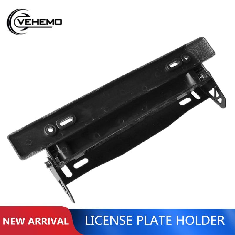 Conversion-Bracket Frame License-Plate-Frame Racing-Style Plastic Cool VEHEMO Metal Adjustable