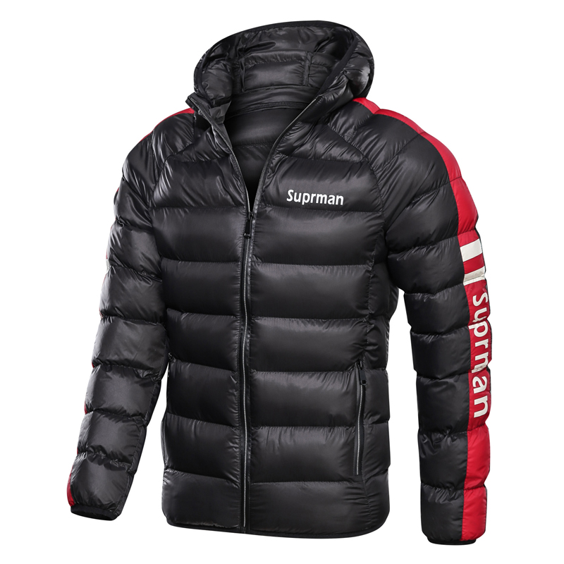 Image 2 - 2019 New Mens Winter Jacket Coat Hooded Fashion Parka Men  Thicken High Quality Coat Male Top Slim Fit Brand Man Warm  OvercoatsJackets