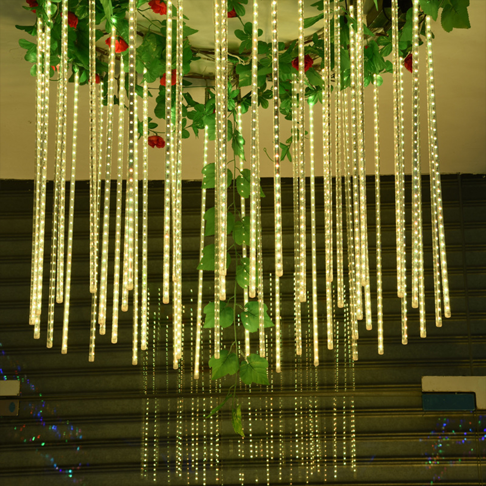 30CM 50CM Waterproof Meteor Shower Rain Tubes Led Light String Christmas Garland OutdoorFor Garden Fairy Tale Wedding Decoration