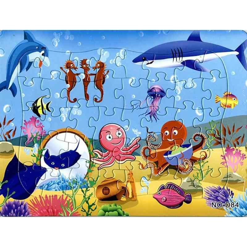 Kids Educatief Puzzels Cartoon Educatief Speelgoed voor Kinderen voor Baby Puzzel GameUnderwater Wereld Papier Cartoon Puzzel Speelgoed