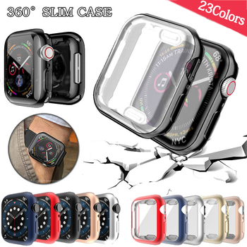 Watch Cover case For Apple Watch series 6 5 4 3 2 1 case 42mm 38m 40mm 44mm Slim TPU case Screen Protector for iWatch 6 5 4 44mm