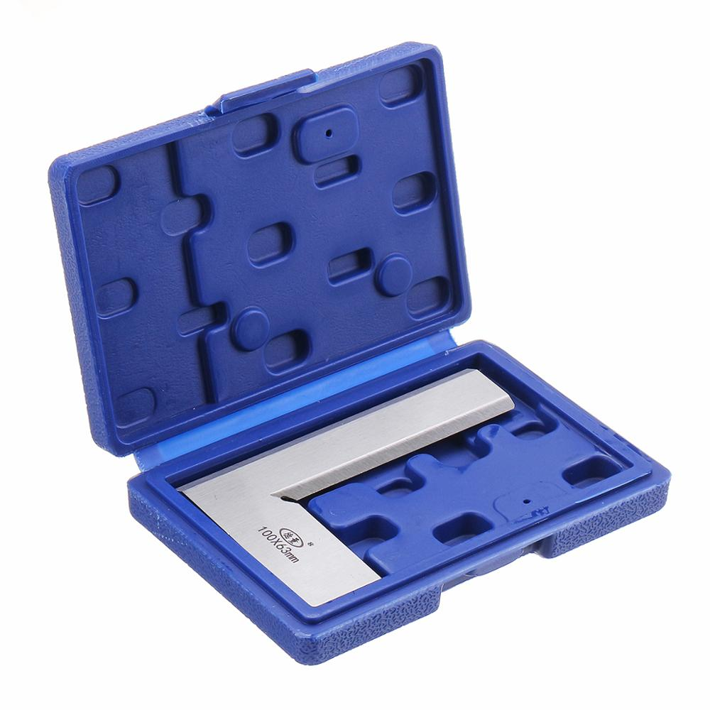 Machinist Precision Knife Edge Square Ruler 90 Degree Right Angle Ruler Engineer Measuring Tool 63x40/80x50/100x63/125x80mm