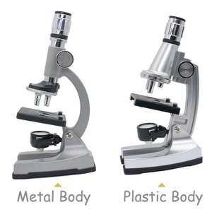 Image 2 - 조명 된 어린이 현미경 1200X 줌 단안 생물 현미경 초급 어린이 학생 키즈 교육 장난감 현미경
