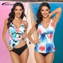 купальник женски Retro Print one Piece Monokini Big Size Swimsuit Skirt Swimwear Women Plus Size Bathing Suit Shorts Dress 5XL труси женски