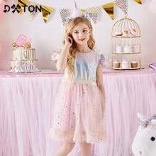 DXTON Princess Girls Dress Summer Children Costumes Patchwork Mesh Kids Dresses For Girls Toddler 2020 Tutu Party Girls Vestidos