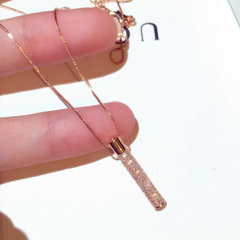 Nouvelle arrivée mode exquis or géométrique pendentif collier pour les femmes pavé incrusté CZ Zircon tour de cou bijoux de mariage cadeau