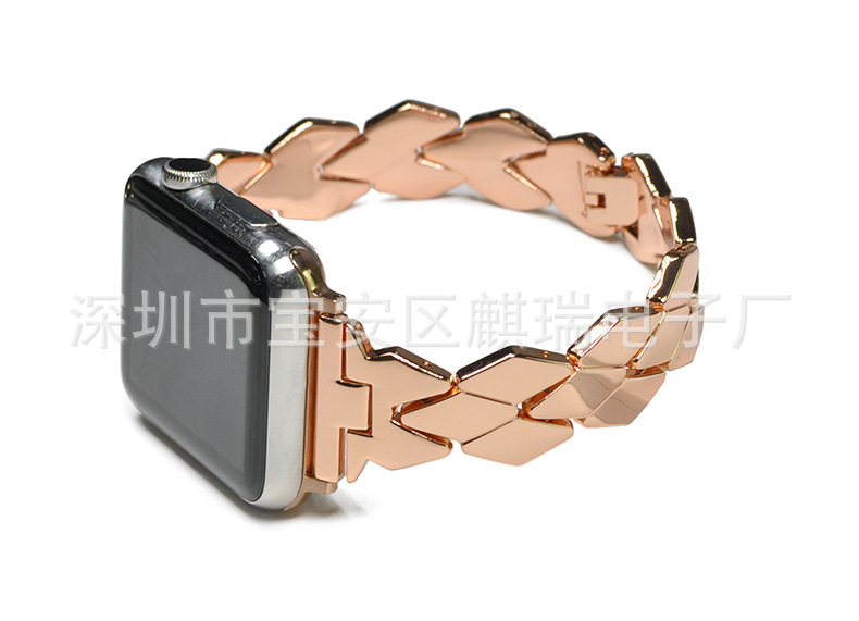 Suitable For Apple Metal Watch Strap IWatch Rhombus Watch Strap APPLE Watch New Style Wrist Strap Metal