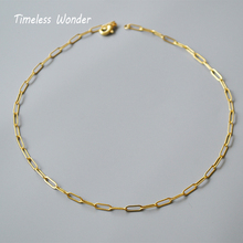 цена на Timeless Wonder Brass Pave Chains Choker Necklace Women Jewelry Punk Gothic Top Ins Statement Wicca Pendant Ins Gold Boho 2528