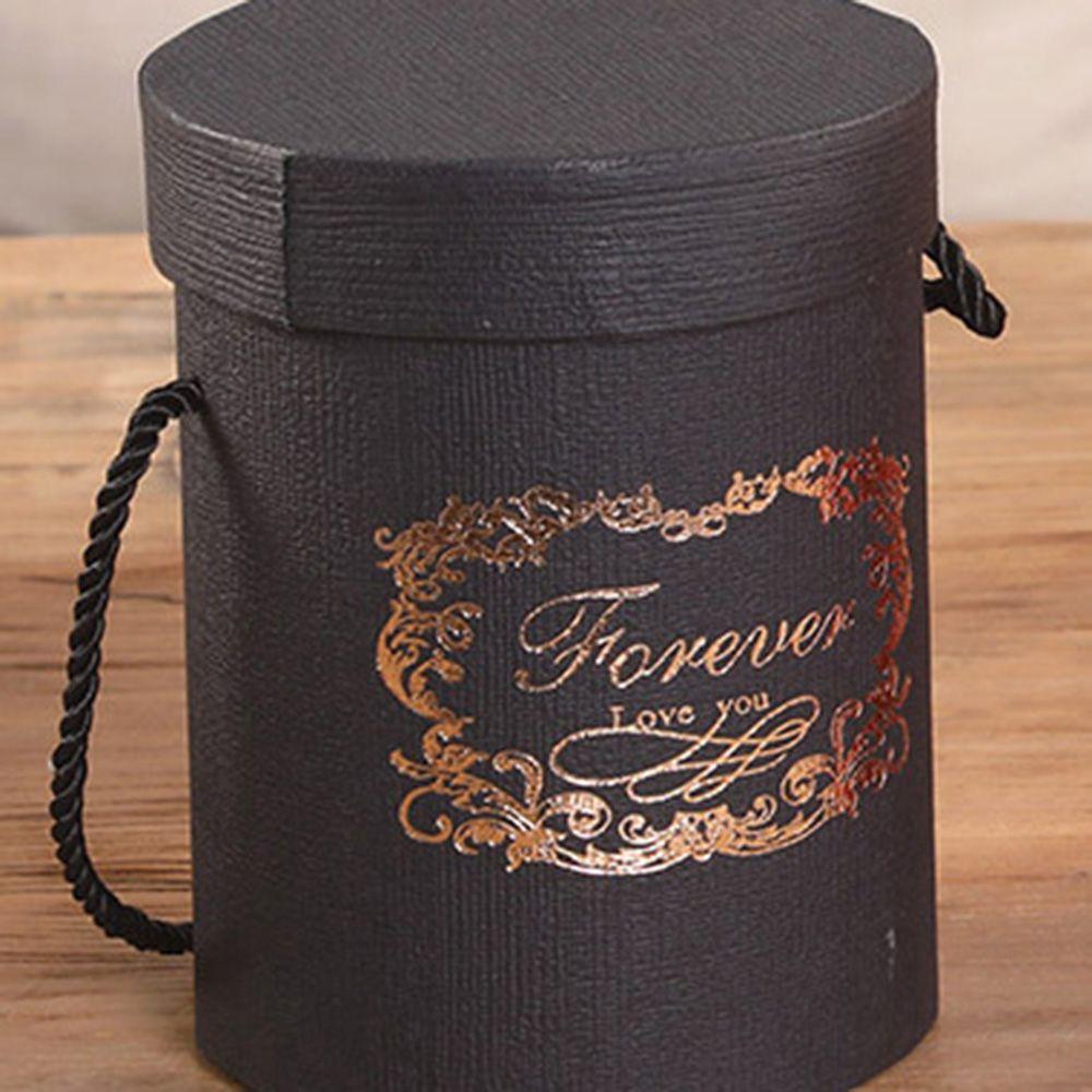 165*120 мм новые круглые бумажные коробки для цветов с крышкой, ведерко для цветов, подарочная упаковочная коробка, подарочные коробки для конфет, вечерние, Свадебные Поставки - Цвет: A(black)