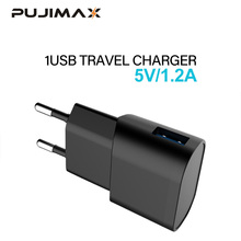 PUJIMAX USB Charger Adapter 1 Port For iPhone 5V 1.2A Wall/Travel Portable Mobile Phone Charging Samsung