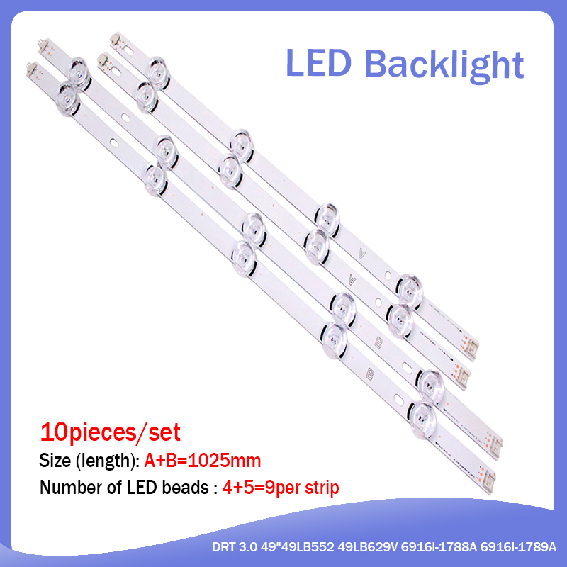 LED Backlight Strip For LG 49LB620V Innotek DRT 3.0 49