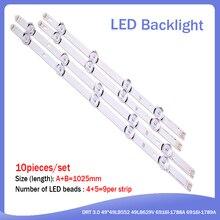 """Striscia di Retroilluminazione A LED Per LG 49LB620V Innotek Ypnl DRT 3.0 49 """"49LB552 49LB629V 6916l 1788A 6916l 1789A 49LF620V 49UF6430 6916L 1944A"""