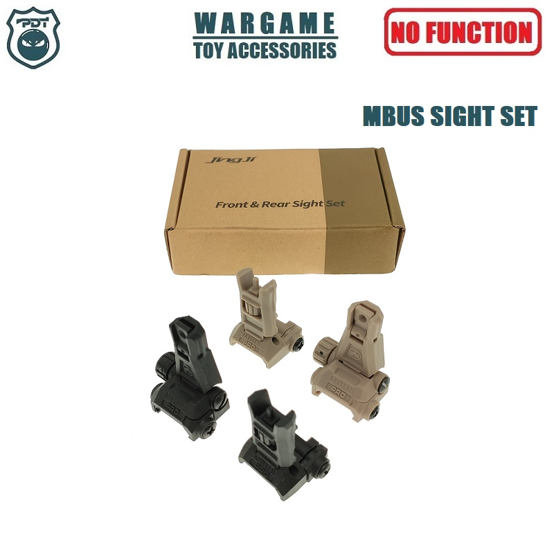Magpul MBUS PRO Nylon Front Rear Sight Set For Toy Water Gel Ball Blaster Airsoft AEG GBB