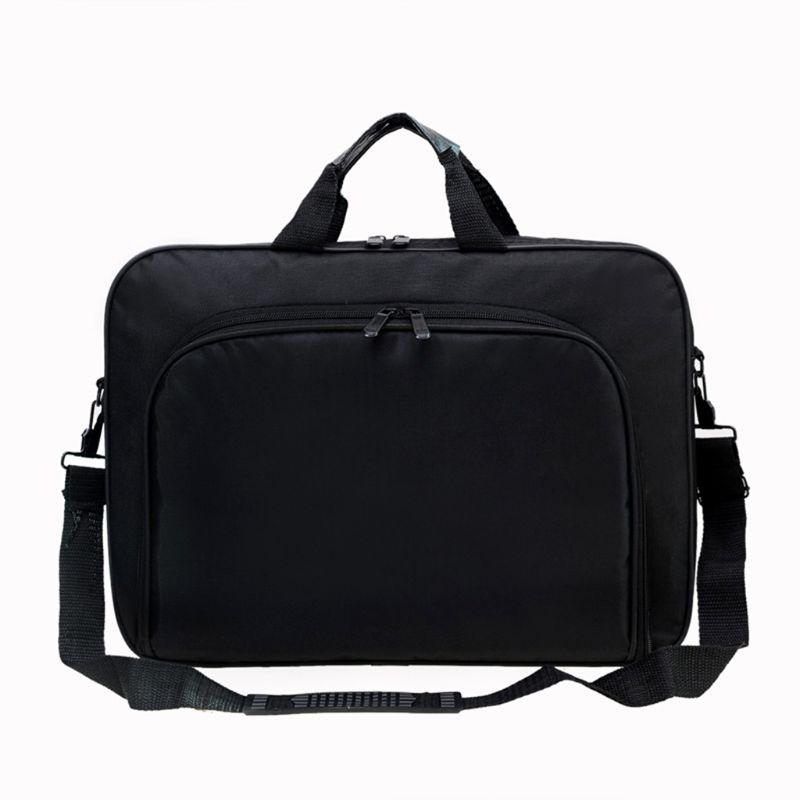 Briefcase Bag 15.6 Inch Laptop Messenger Bag Black Business Office Bag Computer Handbags Simple Shoulder Bag for Men Women 1