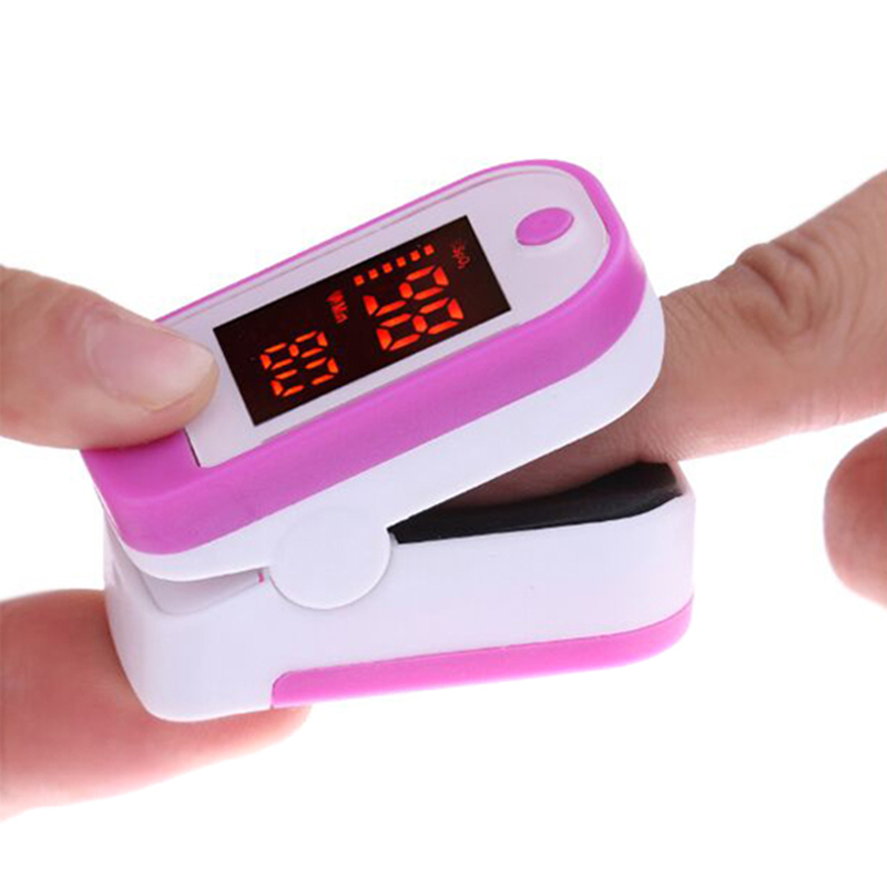 Portable Finger Pulse Oximeter Blood Oxygen Saturation Meter Fingertip Pulsoximeter SPO2 PR Pulsioximetro Monitor Oximetro Dedo