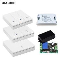 QIACHIP Módulo de interruptor de relé receptor de Control remoto inalámbrico, 433 MHz, CA, 85V, 110V, 220V, 1 CH, lámpara de luz LED, 433,92 MHz