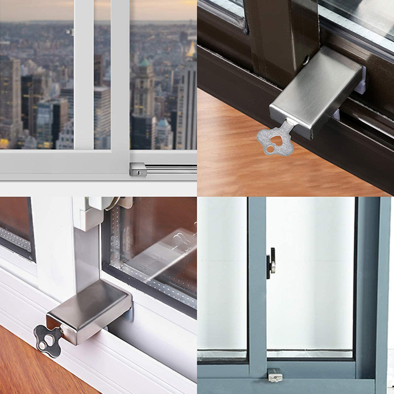 segurança bloqueio parar fechaduras janela segurança ajustável