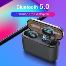 Mini True Wireless Tws Bluetooth 5.0 Headphones Sports Music Handsfree Waterproof With Microphone Charging Box