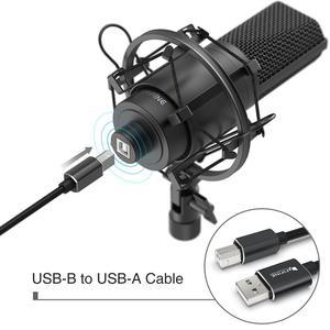 Image 2 - Fifine microfone usb condensador, microfone condensador usb com ajuste de desktop, braço e montagem de choque para estúdio, gravação, youtube, voz