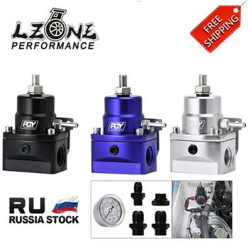 FREE SHIPPING - AN8 high EFI pressure fuel regulator w/ boost -8AN 8/8/6 PQY Fuel Pressure Regulator with gauge JR7855