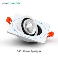 Dimmbare led einbauleuchte 7W 10W 18W Einstellbare 360 grad Einbau LED Lampe Spot licht für indoor foyer Leuchten-in Einbauleuchte aus Licht & Beleuchtung bei