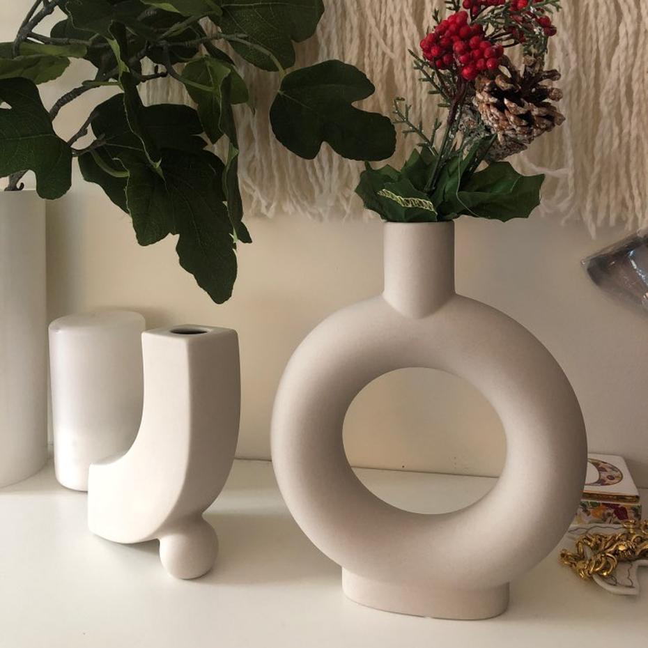 2021 Nordic Minimalist Ceramic Desktop, Decorative Vases For Living Room