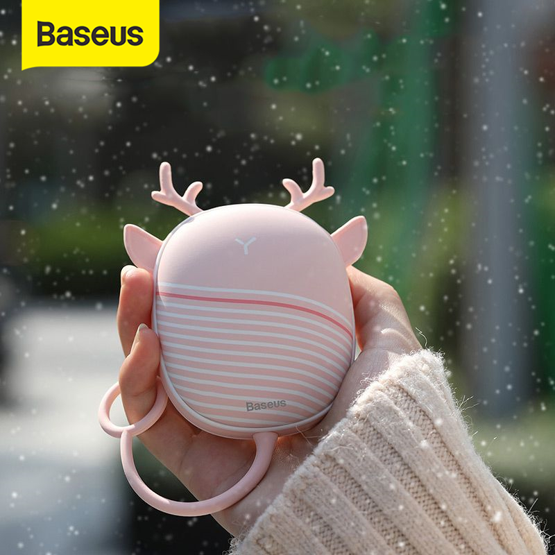 Baseus обогреватель для рук грелка USB Перезаряжаемый удобный обогреватель карманный мини мультяшный электрический обогреватель теплый с ламп...