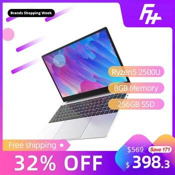 Ультратонкий игровой ноутбук Funhouse Ryzen5, 15,6 дюйма, 2500U, для интернет офиса, портативный, 256 Гб SSD, USB3.0/USB2.0/HDMI, игровой ноутбук