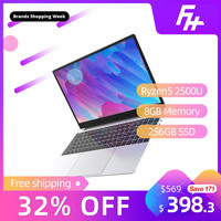 Funhouse 15.6 Inch Ryzen5 2500U Ultra Thin Game Laptop Internet Office Portable 15.6 256GB SSD USB3.0/USB2.0/HDMI Gaming Laptop