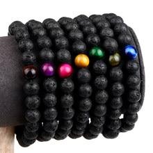 Eye-Stone-Bracelets Beads Charm Yoga Jewelry Lava Gift Tiger Natural-Stone New-Fashion