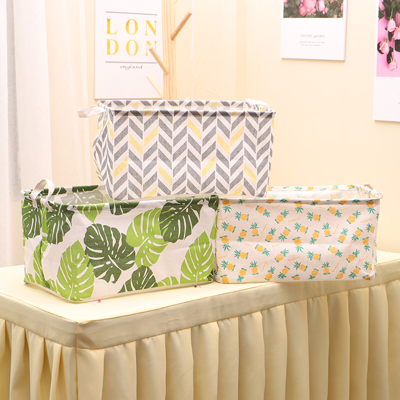 Basket Organizer Storage-Box Hamper Wardrobe Underwear Cotton Toy Linen Dirty Sundries