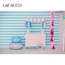 Laeacco Eis Warenkorb Fotografie Hintergrund Kuchen Süßigkeiten Haus Baby Kinder Porträt Szene Fotografische Hintergründe Foto Studio