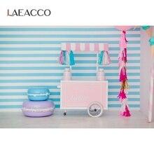 Laeacco גלידת עגלת צילום רקע עוגת סוכריות בית תינוק ילדי דיוקן סצנת צילום תפאורות צילום סטודיו