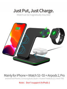 Stand Dock-Station Wireless-Charger Watch Fast-Charging Apple iPhone 11 3-Airpods-Pro