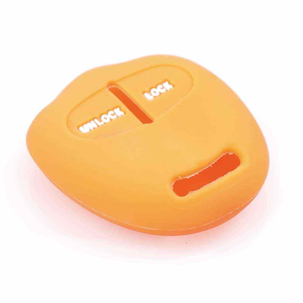 2 botões de silicone caso capa chave do carro para mitsubishi outlander colt lancer grandis pajero esporte chave proteção caso