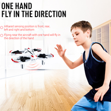 Induction quadcopter Infrared Sensor 2.4G remote control fixed four-axis infrared interactive gesture sensing Gesture Control