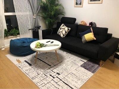 Tapis de fleur nordique pour le salon grands petits tapis mous rouges/chambre à coucher tapis Floral rose tapis de sol Table basse sont tapis - 2