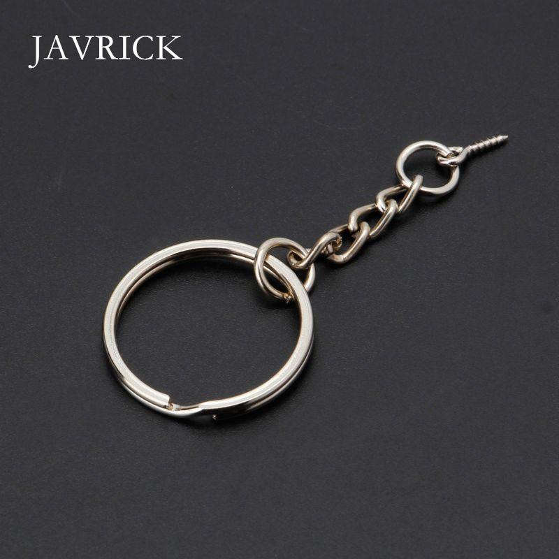 50pcs Golden Keyring Blanks Tone Key chains Key Split Rings Chain sturdy