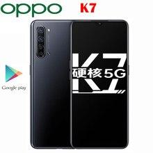 Offizielle Original Neue Oppo K7 5G Handy 8G RAM 128G ROM Snapgragon 765G 6,4 zoll OLED 48,0 MP Kamera 30W VOOC Ladegerät 4025Mah