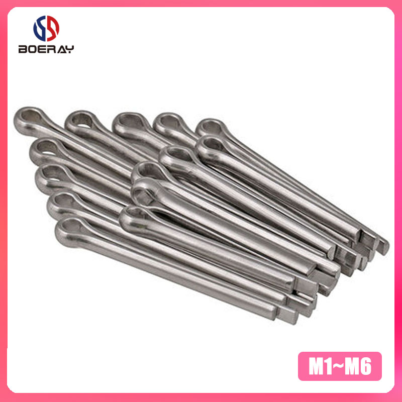 50pcs M1-M2 Cotter Pin U Shape Open Elastic Link Split-Cotter Fastening Pins Zinc Plated Carbon Steel Hairpin Fasteners Pins