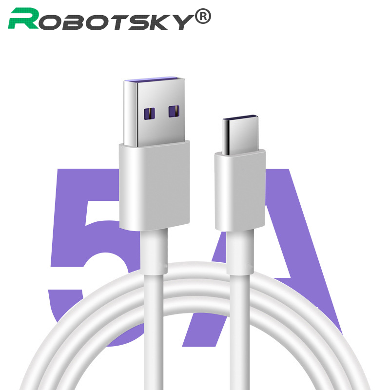5A Type C Cable Quick Charging Cable 0.5m/1m/2m/3m PVC Pure Copper  USB C Cable Fast Charger Cable For Huawei p20 For Honor V10 Mobile Phone Cables    - AliExpress
