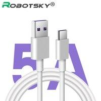 Cavo 5A tipo C cavo di ricarica rapida 0.5m/1m/2m/3m PVC rame puro cavo USB C cavo di ricarica rapida per Huawei p20 per Honor V10