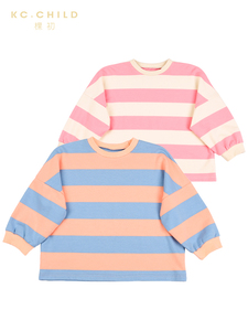 Image 5 - KC.Child 2020SS Latest Childrens T shirt Kids Striped  Long Sleeve Loose T shirt Babys soft T shirt Casual Style Age 2 13Y