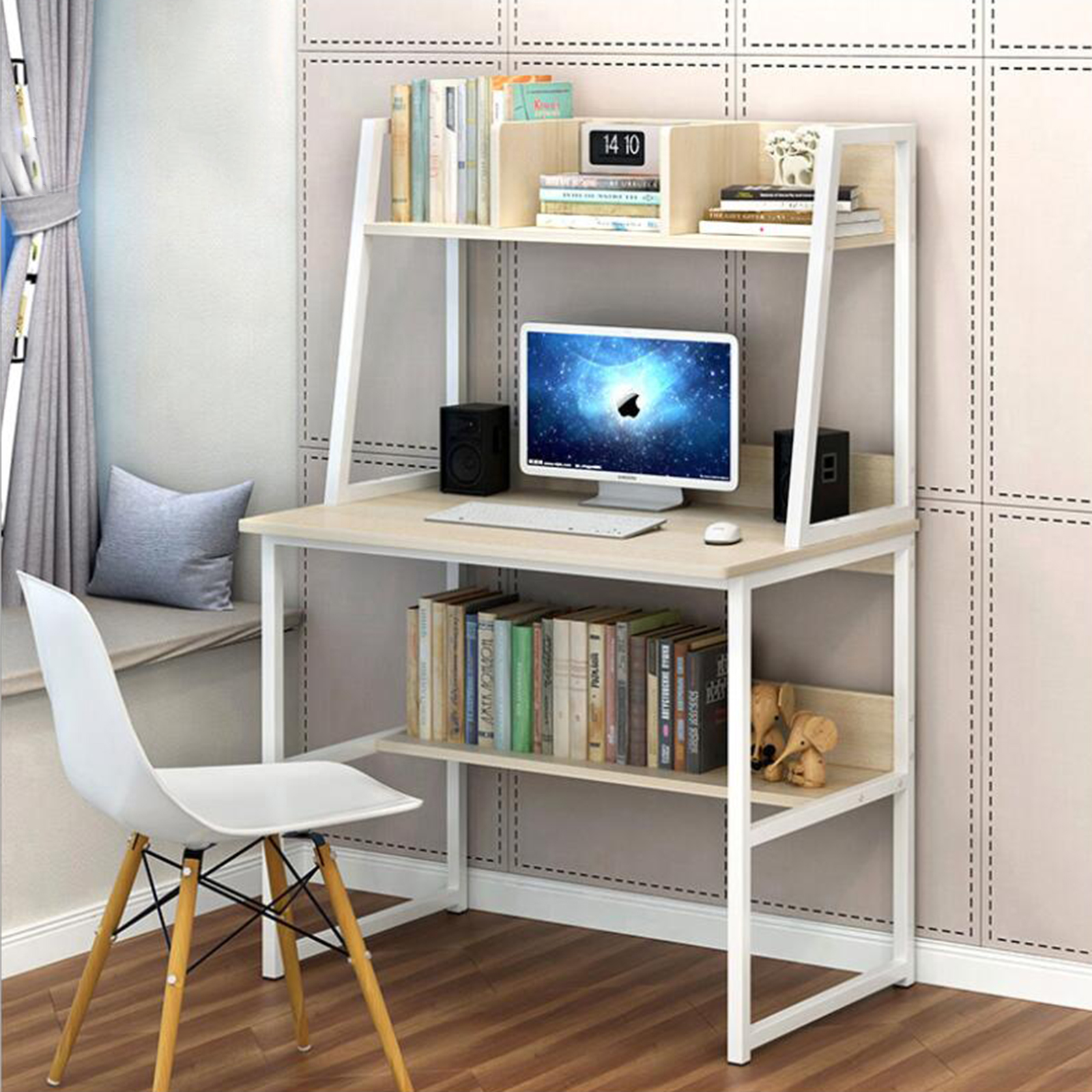 Multi-Function Computer Desk Furniture China Home School Office Table Gaming Table With Shelf For Books