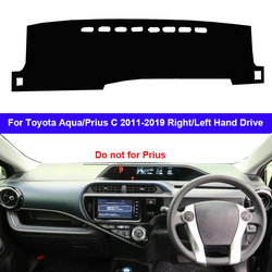 Auto Dashboard Abdeckung Dash Matte Teppich Teppich Für Toyota Aqua Prius C 2011-2019 LHD RHD 2 Schichten Sonnenschirm auto Cape 2018 2017 2016